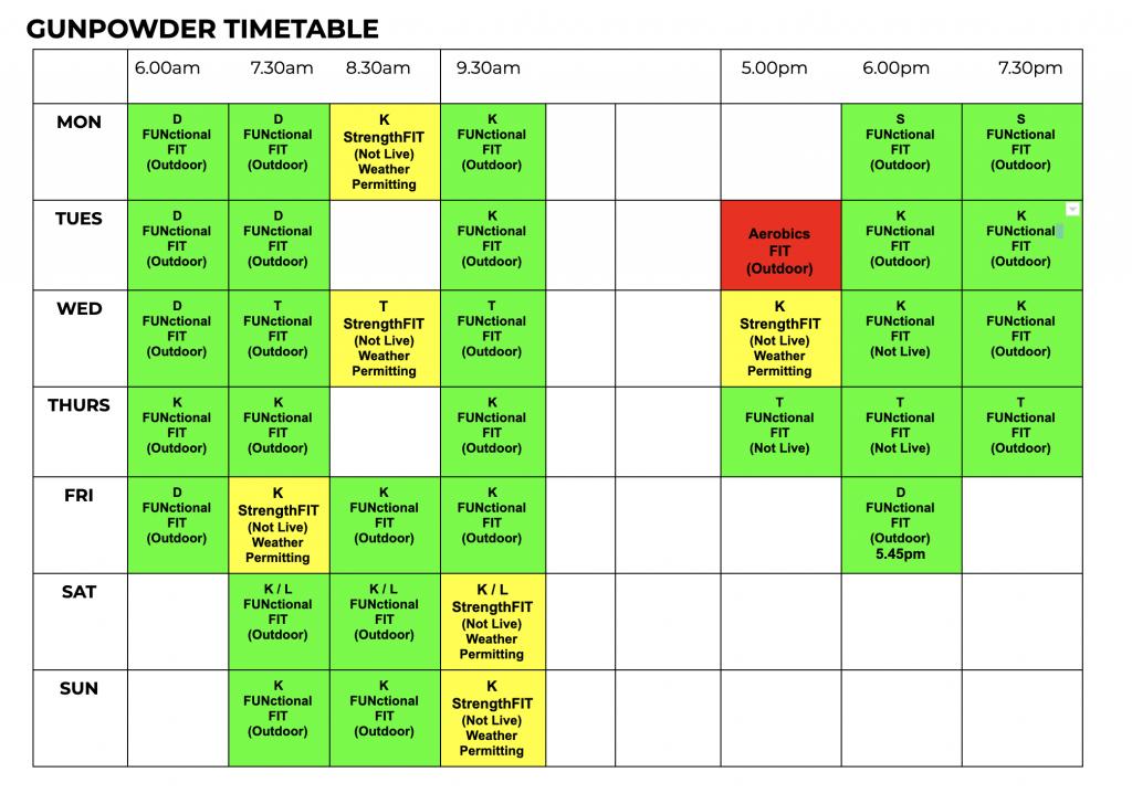 AbFabFit Club - Class Timetable - Waltham Abbey